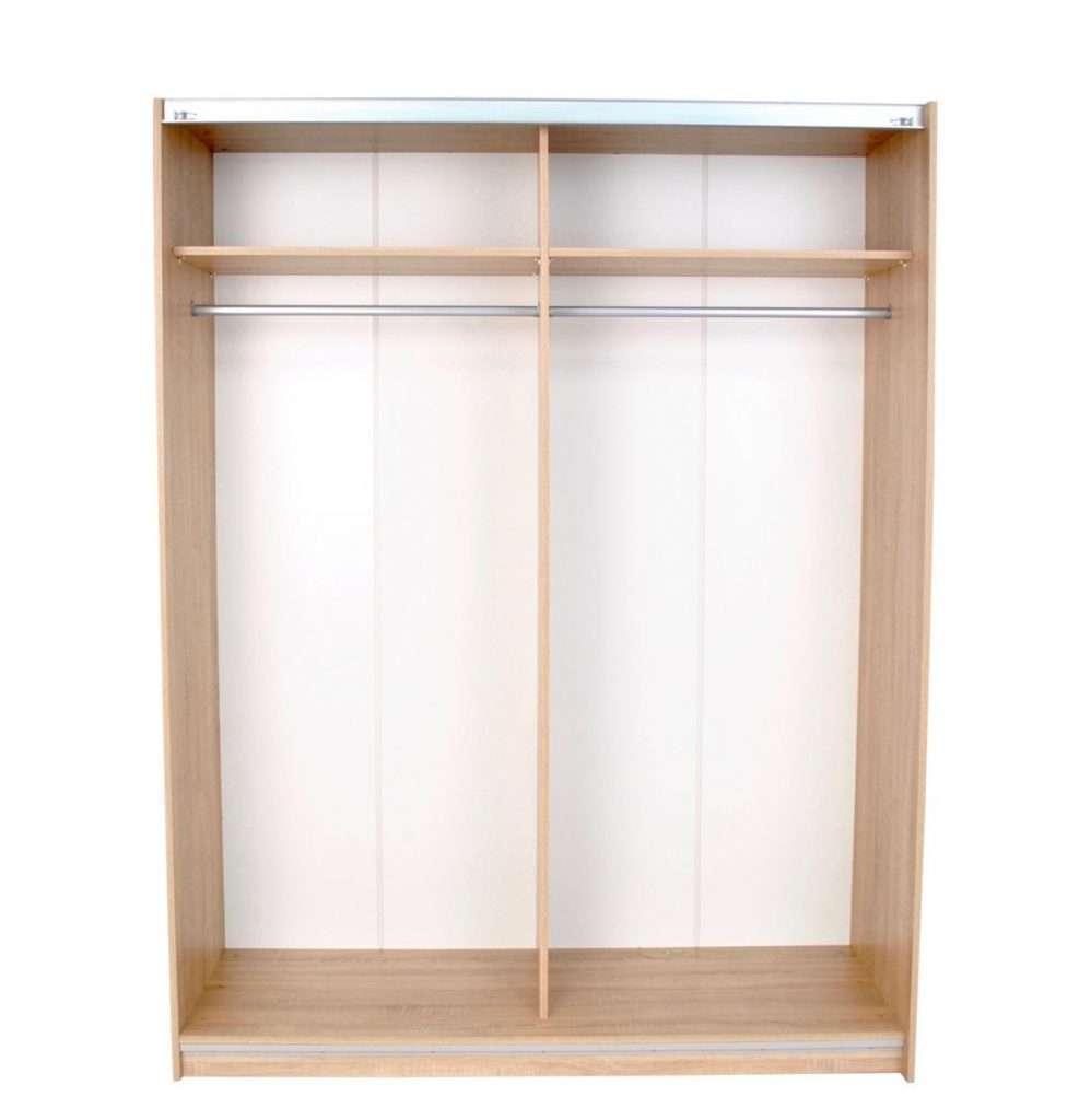 Mia Oak Mirror Sliding Door Wardrobe W200cm X D60cm X H195cm
