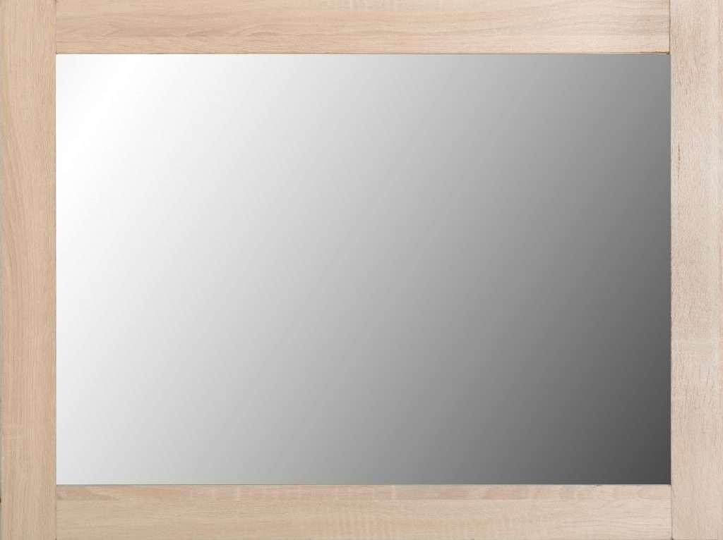 LISA Light Oak Effect Wall Mirror W60cm x D1.5cm x H80cm