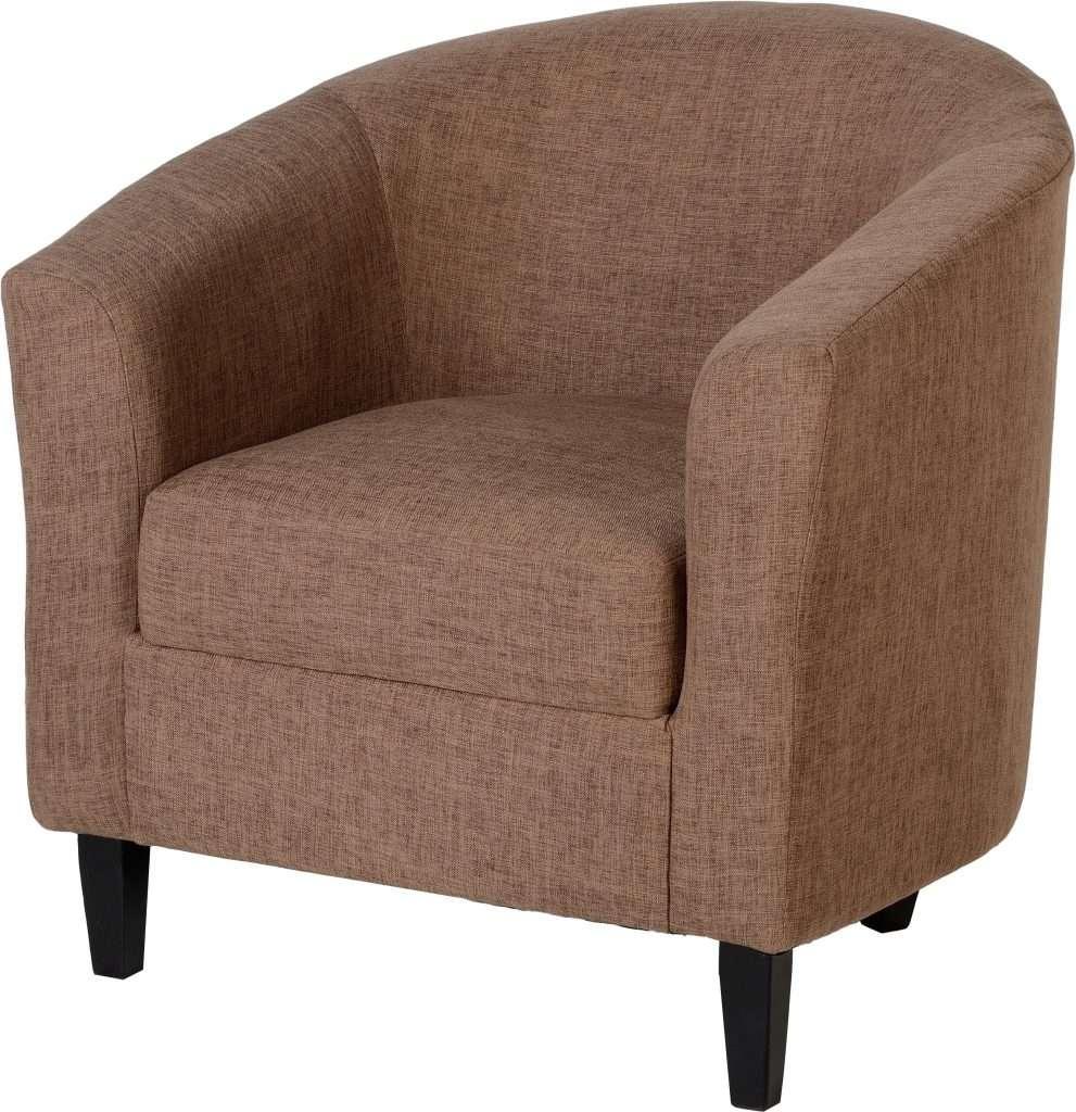 TAMMY Sand Fabric Tub Chair W76cm x D73cm x H74cm