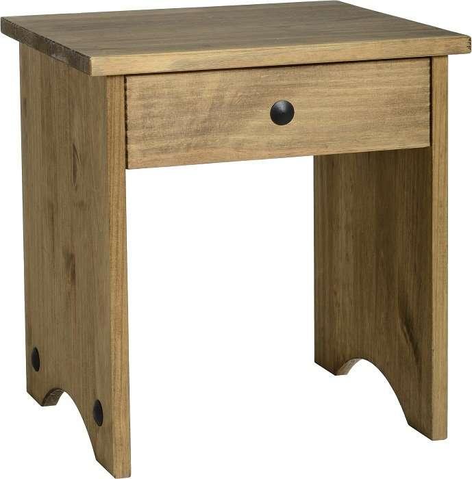 CORONA Dressing Table Stool in Waxed Pine W38 x D33 x H41cm