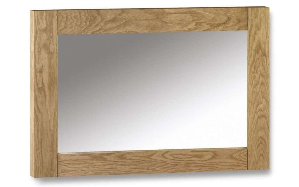 PORTLAND Oak Mirror W100cm x H70cm