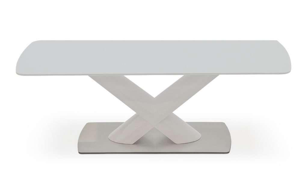 TINA White Glass Top High Gloss Coffee Table W120cm x D60cm x H40cm