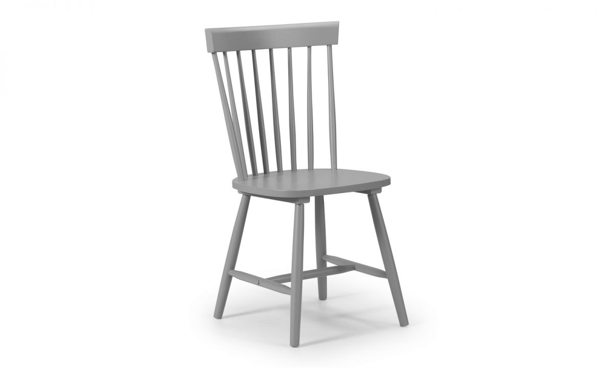 TORI 1 X Grey Dining Chair W50cm x D47cm x H90cm