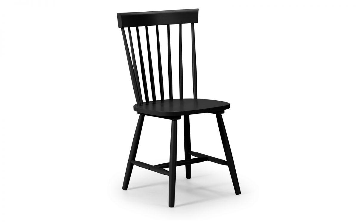 TORI 1 X Black Dining Chair W50cm x D47cm x H90cm